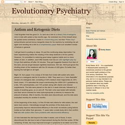 Evolutionary Psychiatry: Autism and Ketogenic Diets