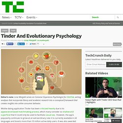Tinder And Evolutionary Psychology