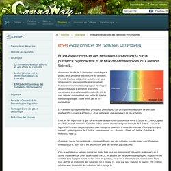 Effets évolutionnistes des radiations Ultraviolet(B)