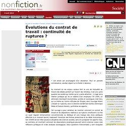 Évolutions du contrat de travail : continuité de ruptures ? - No