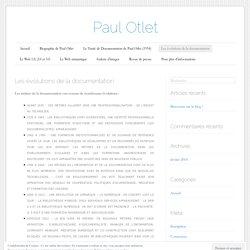 Les évolutions de la documentation