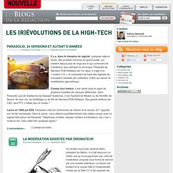 Les (r)évolutions de la high-tech, le blog High Tech de L'Usine