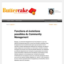 Fonctions et évolutions possibles du Community Management | Butter Cake