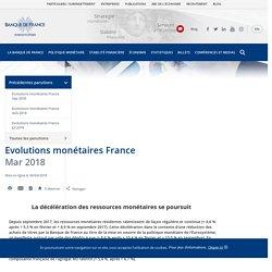 Evolutions monétaires France - Mar 2018