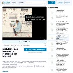 Evolutions des moteurs de recherche sur internet