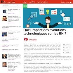 Quel impact des évolutions technologiques sur les RH ?