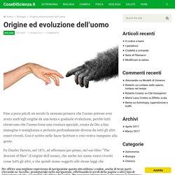 Origine ed evoluzione dell'uomo - CoseDiScienza.it