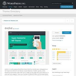 evolve — Free WordPress Themes