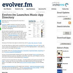 Launches Music App Directory