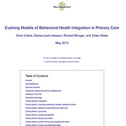 Evolving Care 2010