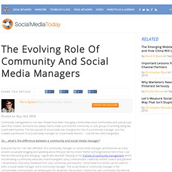 The Evolving Role Of Community And Social Media Managers