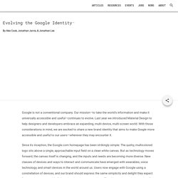 Evolving the Google Identity - Articles - Google Design