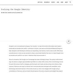 Evolving the Google Identity - Articles - Google Design