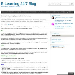 Evolving the E-Learning Experience for the 21st Century