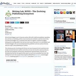 Writing Lab: ROYO - The Evolving Publishing Ecosystem