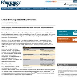Lupus: Evolving Treatment Approaches