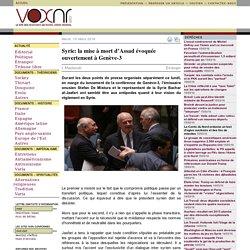 Syrie: la mise à mort d'Assad évoquée ouvertement à Genève-3 ››› L.Mazboudi