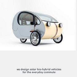 evovelo design solar bio-hybrid vehicles for the everyday commute