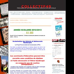 – AVS, EVS/AVS, AED, AS, AP… · COLLECTIF49