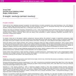 EBIB 3/2008 (94) - A. Pellé: E-książki: ewolucja zamiast rewolucji