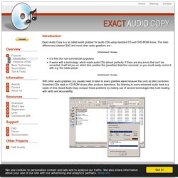 Introduction » Exact Audio Copy