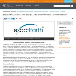 exactEarth Announces Two-Year $1.45 Million Commercial Customer Renewal