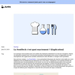 La FoodTech c'est quoi exactement ? [Explication]