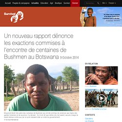 Un nouveau rapport dénonce les exactions commises à l'encontre de centaines de Bushmen au Botswana