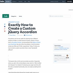 Exactly How to Create a Custom jQuery Accordion