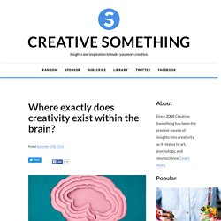 Where exactly does creativity exist within the brain?
