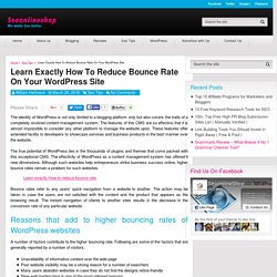 Learn Exactly How To Reduce Bounce Rate On Your WordPress Site