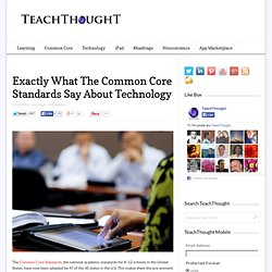Exactly What The Common Core Standards Say About Technology