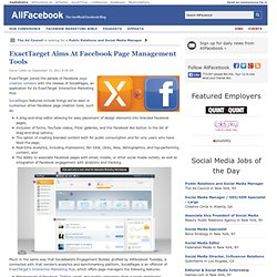 ExactTarget Aims At Facebook Page Management Tools