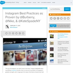 The ExactTarget Blog Instagram Best Practices as Proven by @Burberry, @Nike, & @KateSpadeNY