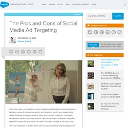 The ExactTarget Blog The Pros and Cons of Social Media Ad Targeting