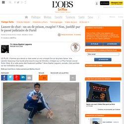 Lancer de chat : un an de prison, exagéré ? Non, justifié par le passé judiciaire de Farid