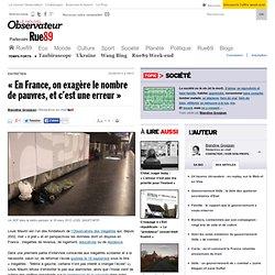 «En France, on exagère le nombre de pauvres, et c'est une erreur»