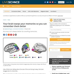 Your brain exaggerates memories to remember them better