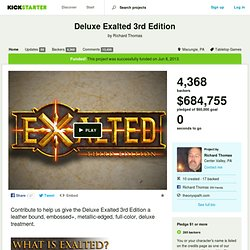 Deluxe Exalted 3rd Edition by Richard Thomas