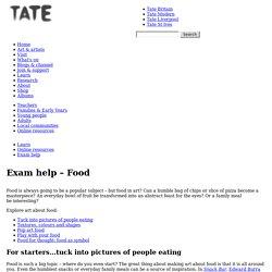 Exam help – Food