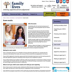 Exam results - Family Lives