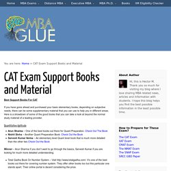 CAT Exam Support Books and Material
