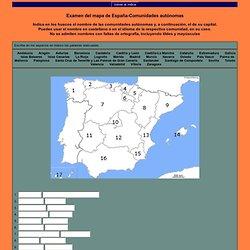 Examen del mapa de Espa a-Comunidades aut nomas