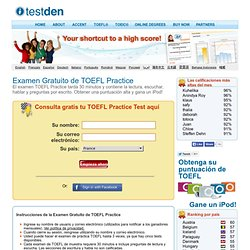 Examen Gratuito de TOEFL Practice