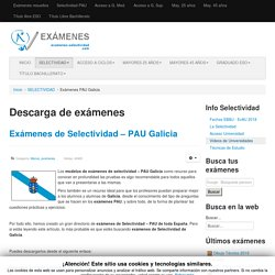Exámenes PAU Galicia