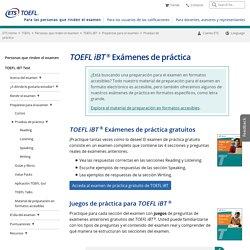 Exámenes de práctica TOEFL iBT (para personas que rinden el examen)