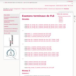 Examens terminaux de FLE