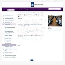 College voor examens - Brochure Examentrainingen Staatsexamen NT2
