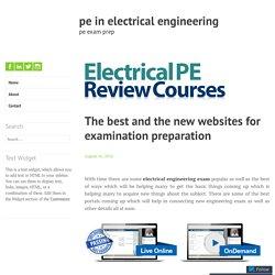 electrical pe exam