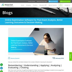 Online Examination Software for Post-Exam Analysis, Better Learning Outcomes & Decision Making